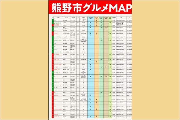 熊野市グルメMAP(店舗一覧)