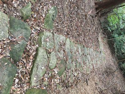 神木流紋岩の石畳道