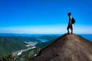 便石山(びんしやま)(象の背)(登り口)