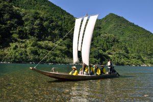 三反帆で巡る熊野川体験ツアー