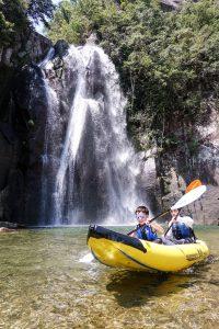 滝ダッキー体験