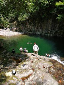 川遊び体験(体験ではなく周辺の場所を案内)