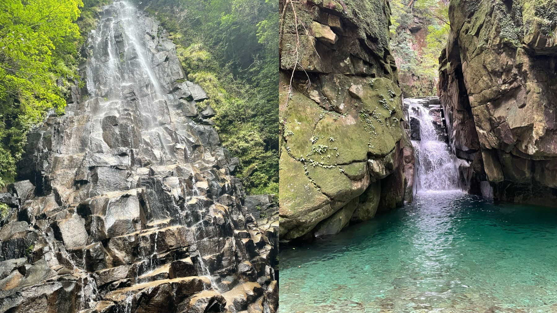 尾鷲の秘境 『アナギの滝 』 ―陰と陽、二つの美―